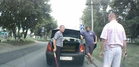 Em um dia normal no transito da Rússia