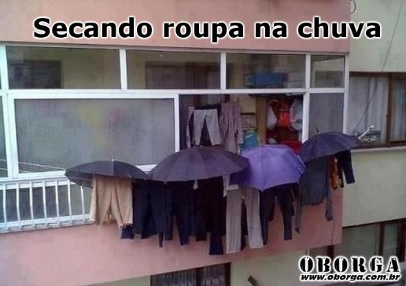 Como secar roupa na chuva