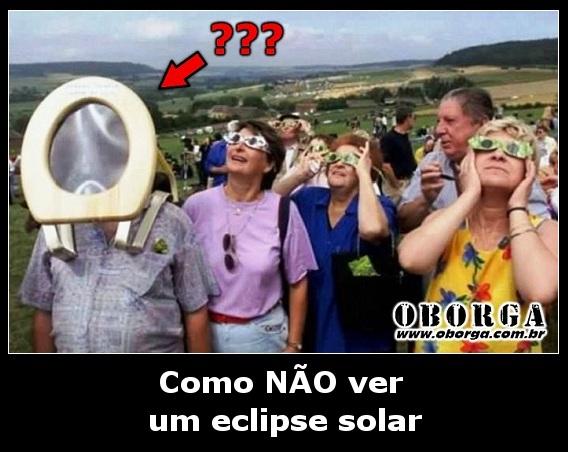 Como não ver um eclipse solar