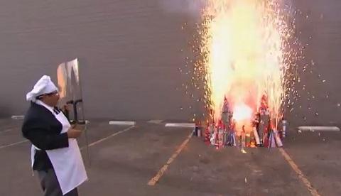 Cozinhando com fogos de artifício