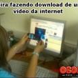 Loira fazendo download