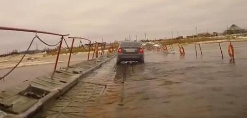 Em uma ponte qualquer da Russia