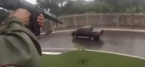 Helicóptero da policia atira e prende traficantes