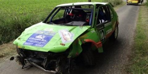 Acidente impressionante de Rally na Haute Senne 2014