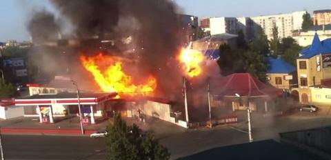 Posto explode na Russia
