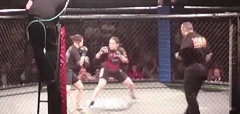 MMA headkick KO