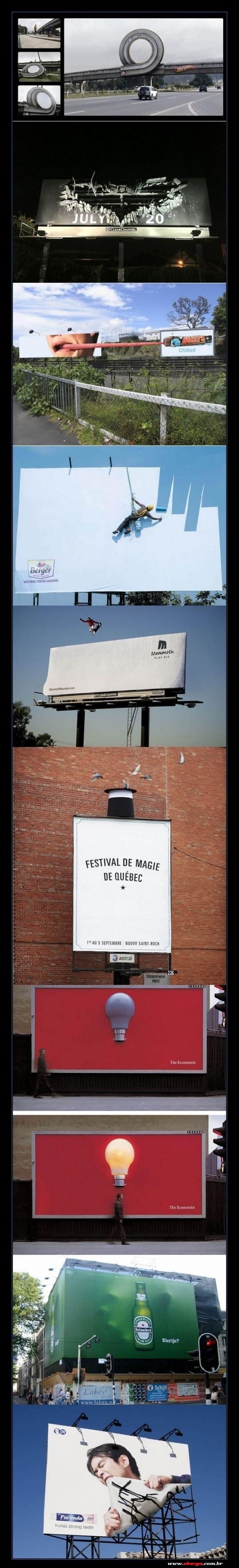 Alguns outdoors bem criativos