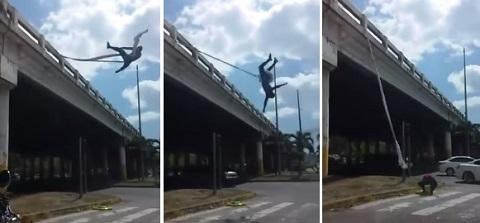 Spierman dá show em farol no Panamá
