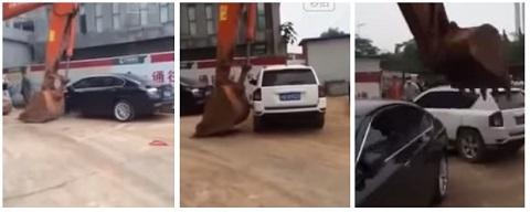 Quando você estaciona em local proibido na China