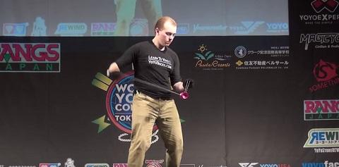 Finalista no campeonato mundial de ioiô 2015
