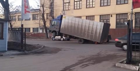 Quando você carrega demais um caminhão