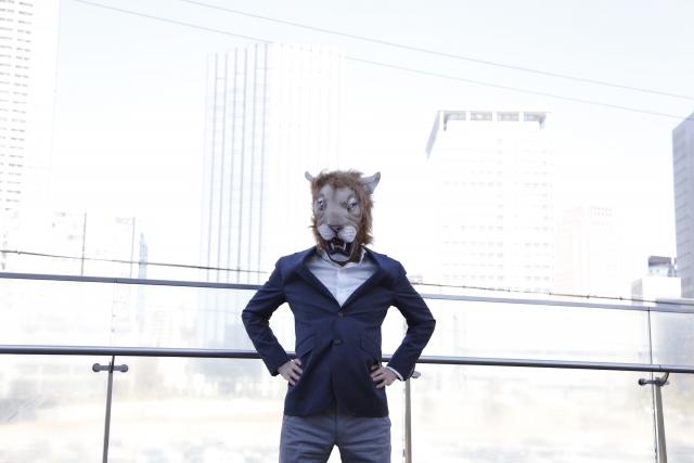 威張る ライオン