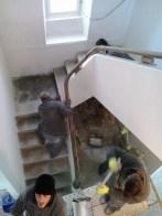 Acondicionando escaleira