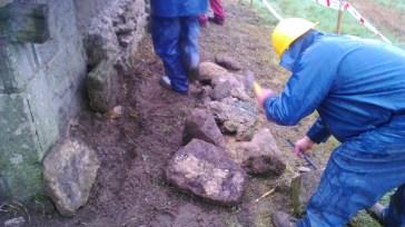 Reparación muro mamposteria