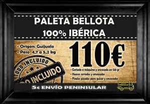Promo paleta bellota 100 guijuelo hc 110