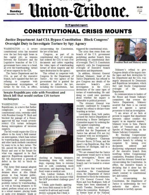 Constitutional Crisis Mounts