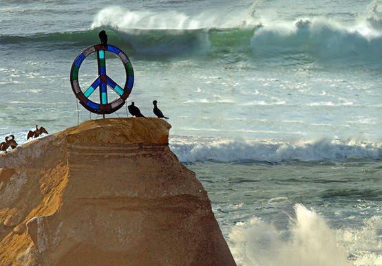 Peace Rock, Ocean Beach California