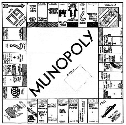 Watergate Munopoly Game Board!