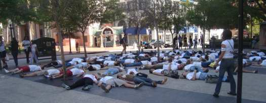 Die In for Peace, Third & Broadway, San Diego, March 22 2008