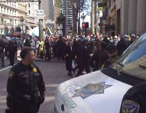 Nun arrested in San Francisco Anti-war protest, March 19 2008