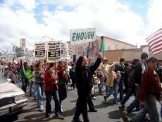 March down University Avenue, March 15, 2008