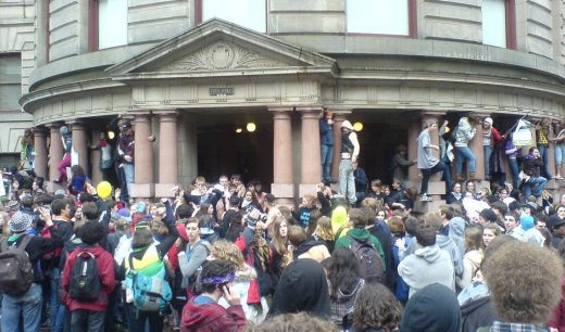 High School Students descend on Portland City Hall, March 2008. Click image to see larger version