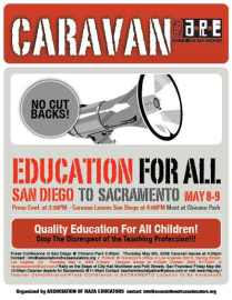 Caravan to Sacramento (click on image to view full size PDF file)