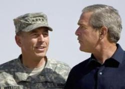 "President George ""Mission Accomplished"" Bush & Gen. David ""The Surge Is Working"" Petraeus"