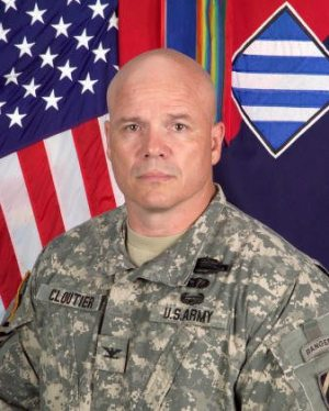 Col. Roger Cloutier - commander of the Army brigade to be deployed within America.