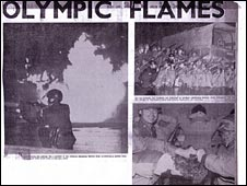 Some of the pictures used by the London Evening News to reprot the Tlatlelolco massacare