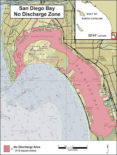 Bay discharge map