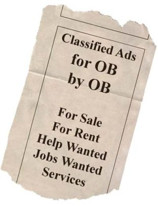 Classified Ad Listings, by OB for OB!