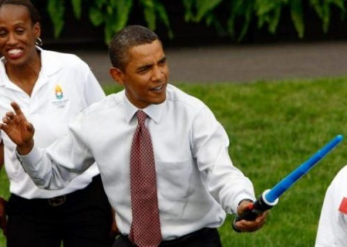 Obama with light sword