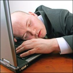 sleeping at computer 7