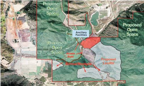 gregory canyon landfill map