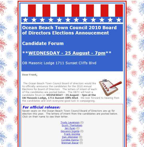 OB Town Council ballot annou Aug 2010