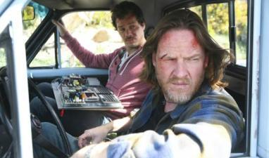 Terriers actors in car