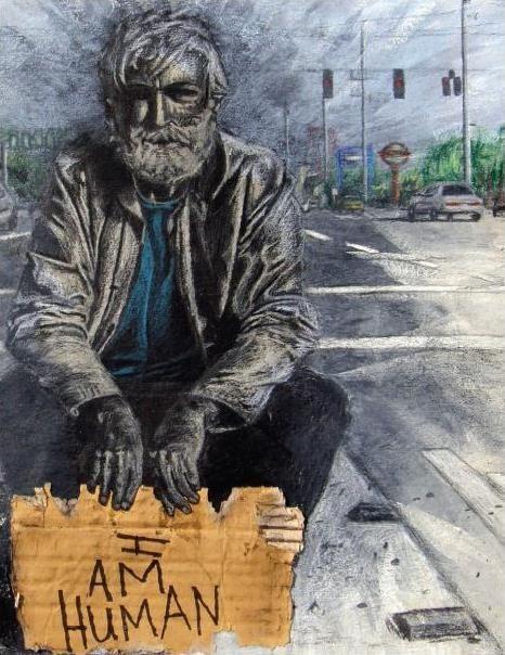 homeless I am human drawing