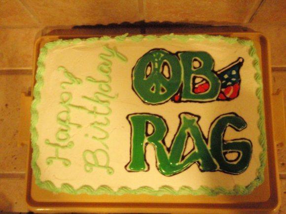 OB Rag birthday cake