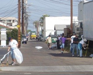 homeless alley cleanup