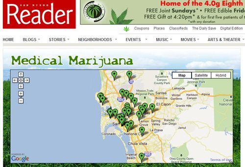 The San Diego Reader runs lots of medical weed ads