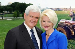 Newt and Calista Gingrich and Star Trike