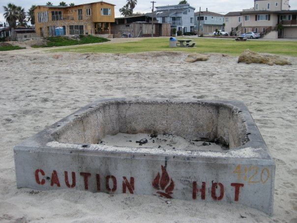 "Looks like the few remaining fire pits ... - Fire Pits In Ocean Beach ""Saved"" Again"