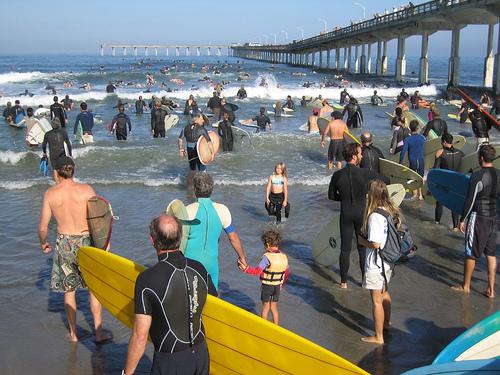 OB Pier surf ride