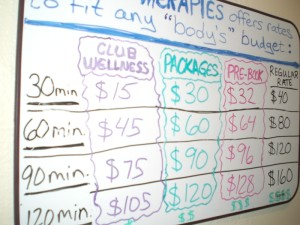 Marys Therapies jc prices
