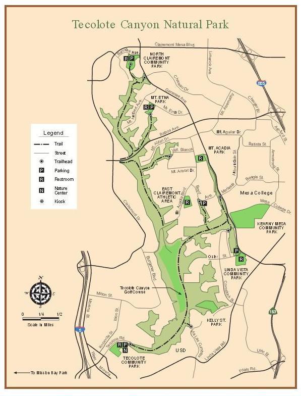 Tecolote Canyon map