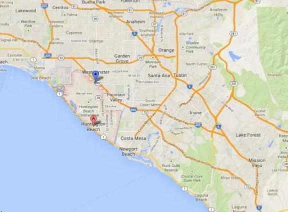 Huntington Beach map
