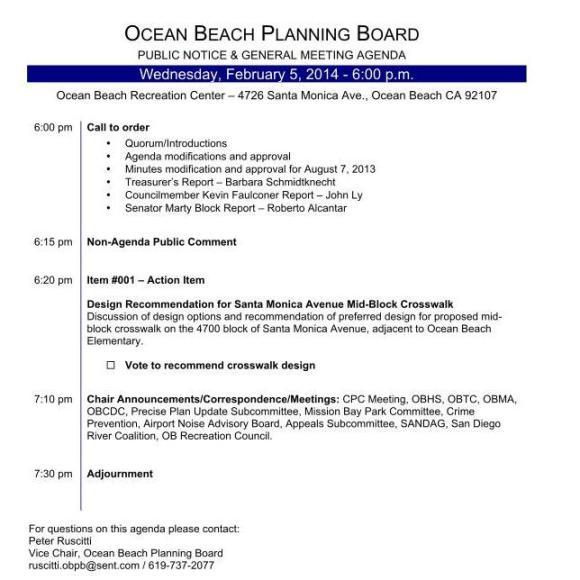 OB Plan Bd Agenda 02-05-14