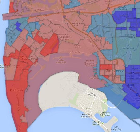 San Diego MayElect 2014 OB-Pl map