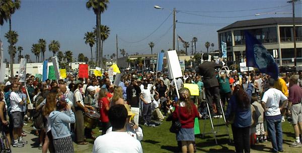OB starbucks protest 3-25-01